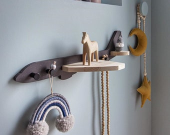 Airplane Wall Shelf Clothes Hanger