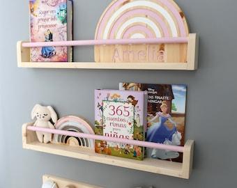 Floating bookshelf for kids, Bookshelves for kids, kids bookshelves, nursery bookshelf, kids bookshelf