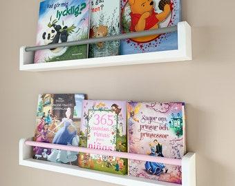 Floating bookshelf for kids (White), Bookshelves for kids, kids bookshelves, nursery bookshelf, kids bookshelf