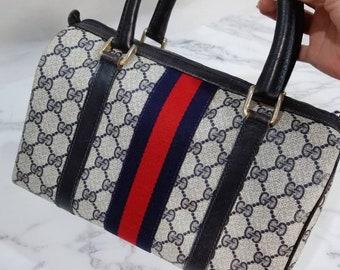 Authentic Vintage 80' Gucci monogram original GG Boston bag