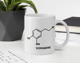 Dopamine White glossy mug