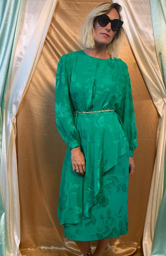 Vintage Long Sleeve Silk Dress | Vintage Silk Jacq