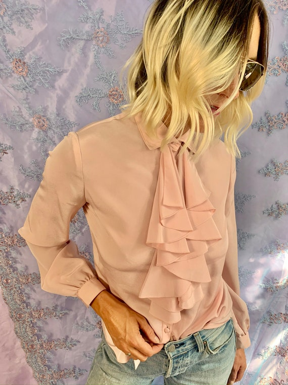 Vintage Ruffle Blouse | Romantic Ruffle Top | Chic