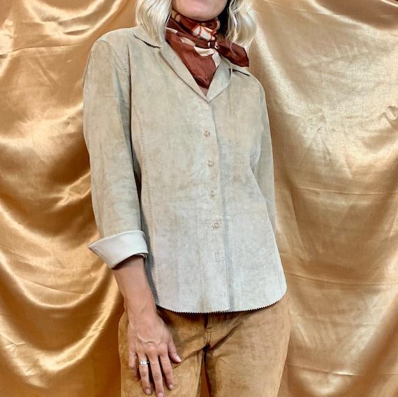 Vintage Suede Shirt | Vintage Suede Top  | Vintage