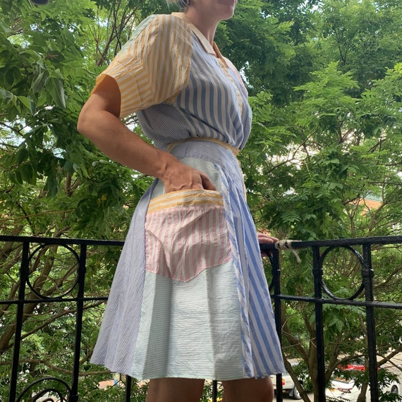 Vintage Striped Silk Skirt | 80s Silk Skirt | Vint
