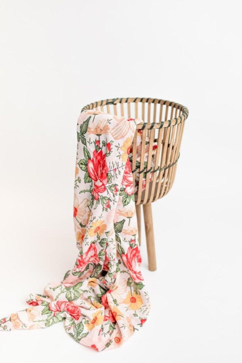 Floral Summer Swaddle Baby Girl Blanket