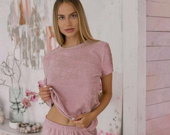 Women Cotton Pajama Set | Short Sleeve Pajamas Set | Women nightwear | cotton pajamas women set | Cotton Short Pajamas | Sexy Pajamas Set