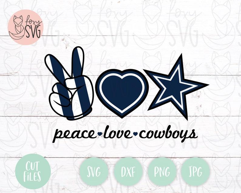 Download Peace Love CowboysCowboys Lips svg Football svg Cowboys | Etsy