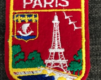 Vacay in Paris embroidery iron on patch  Paris Eiffel Tower Tour De France Places Romance Gold Silver Travel Collectibles Badge