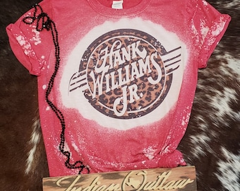 Hank Williams Jr. Bleached Out Graphic T-Shirt