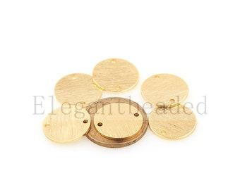 round connectors-Geometric connector-round sparkle halo necklace(15mm)