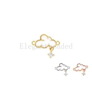 14.5x15.4mm cloud connector-cloud bracelet-cloud pendant-cute cloud-enamel cloud