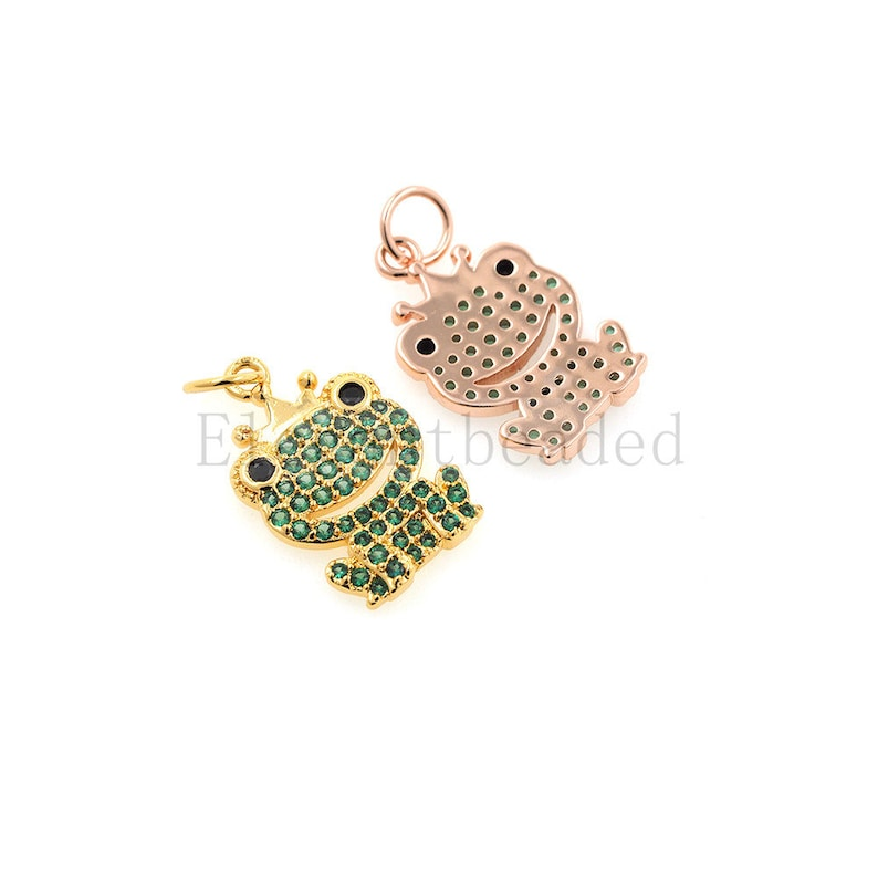 frog necklace-frog earrings-frog jewelry 21.4x10.9mm
