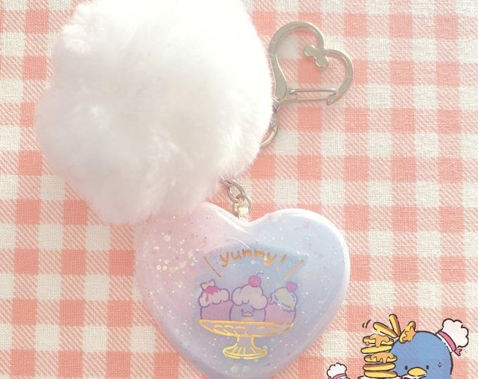 Pastel Fashion SanX Hello Kitty Tuxedo Sam Sanrio Kawaii Resin Keychain Jewelry