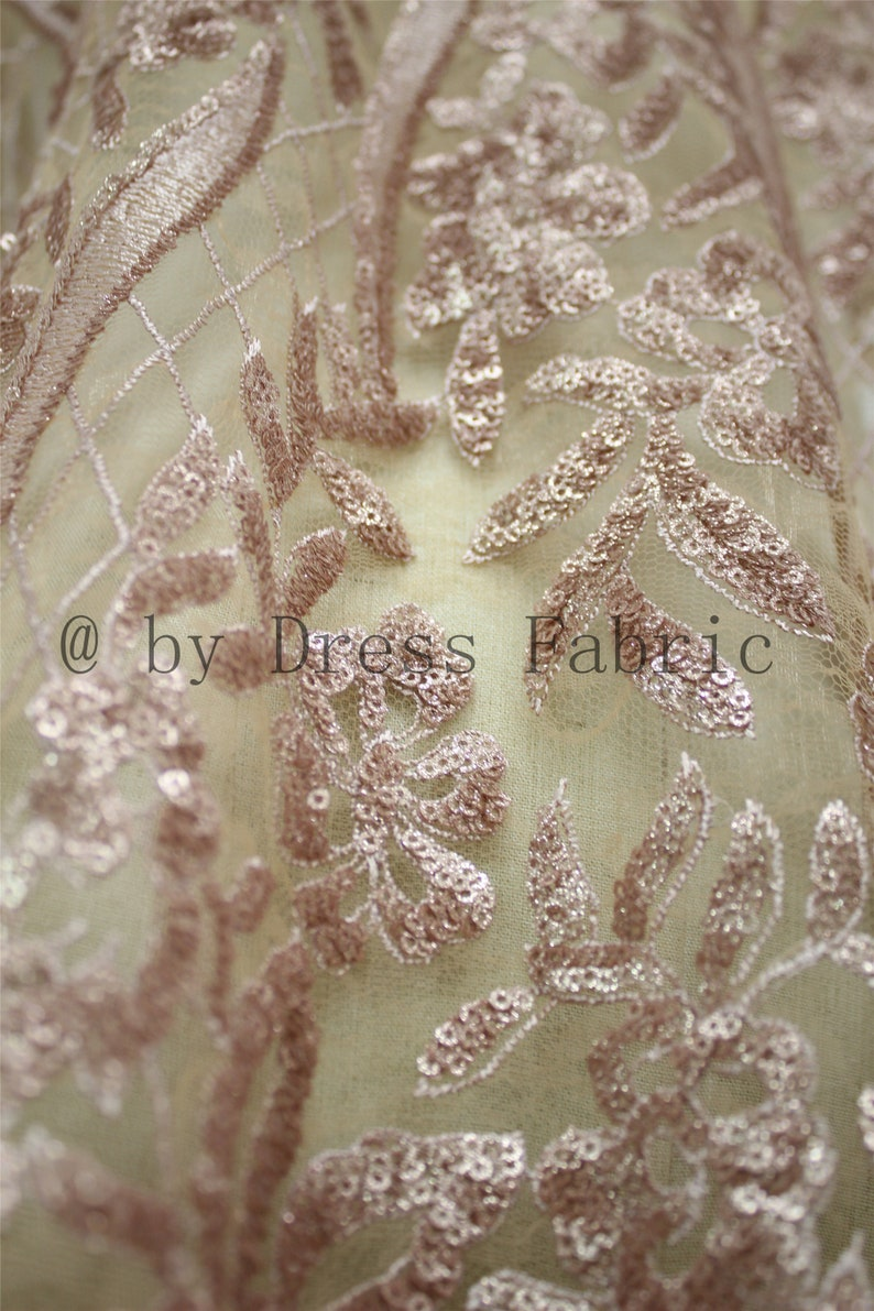 4 Colors Luxurious Bridal Lace Fabric Couture Fabric Lace for Wedding Dress Sequins Lace With Soft Mesh Lace Fabric Width 51 By the yard