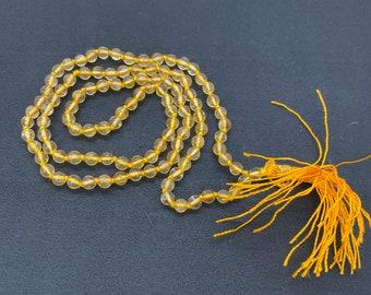 6 MM Beads Citrine Japa Mala / 108 Beads Japa Mala / Gemstone Japa Mala / Japa Mala Necklace Meditation Bracelet