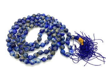 6 MM Beads Lapis Lazuli Stone Japa Mala / 108 Beads Japa Mala / Gemstone Japa Mala / Japa Mala Necklace Meditation Bracelet