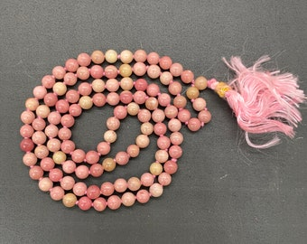 6 MM Beads Kunzite Stone Japa Mala / 108 Beads Japa Mala / Gemstone Japa Mala / Japa Mala Necklace Meditation Bracelet