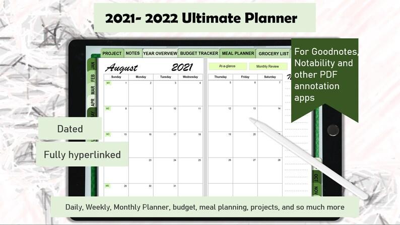 2021-2022 Goodnotes Planner Digital Planner iPad Planner image 0