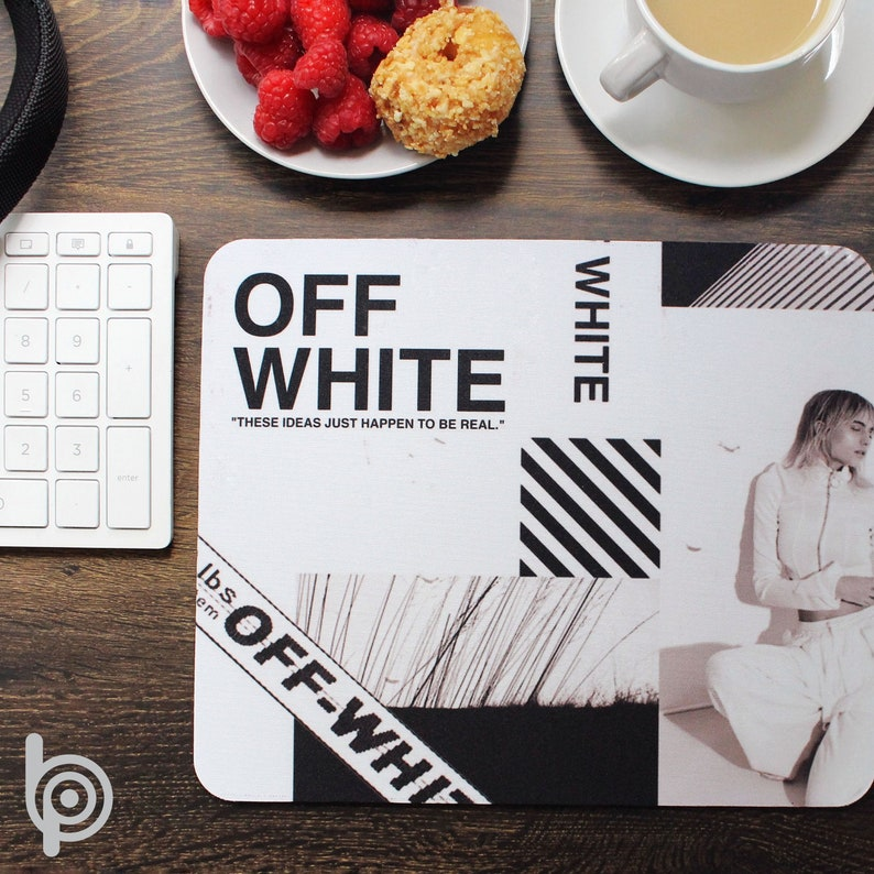 Rectangle OFF-WHITE OffWhite Logo Design Cool White Mouse Pad 9 14 X 7 34