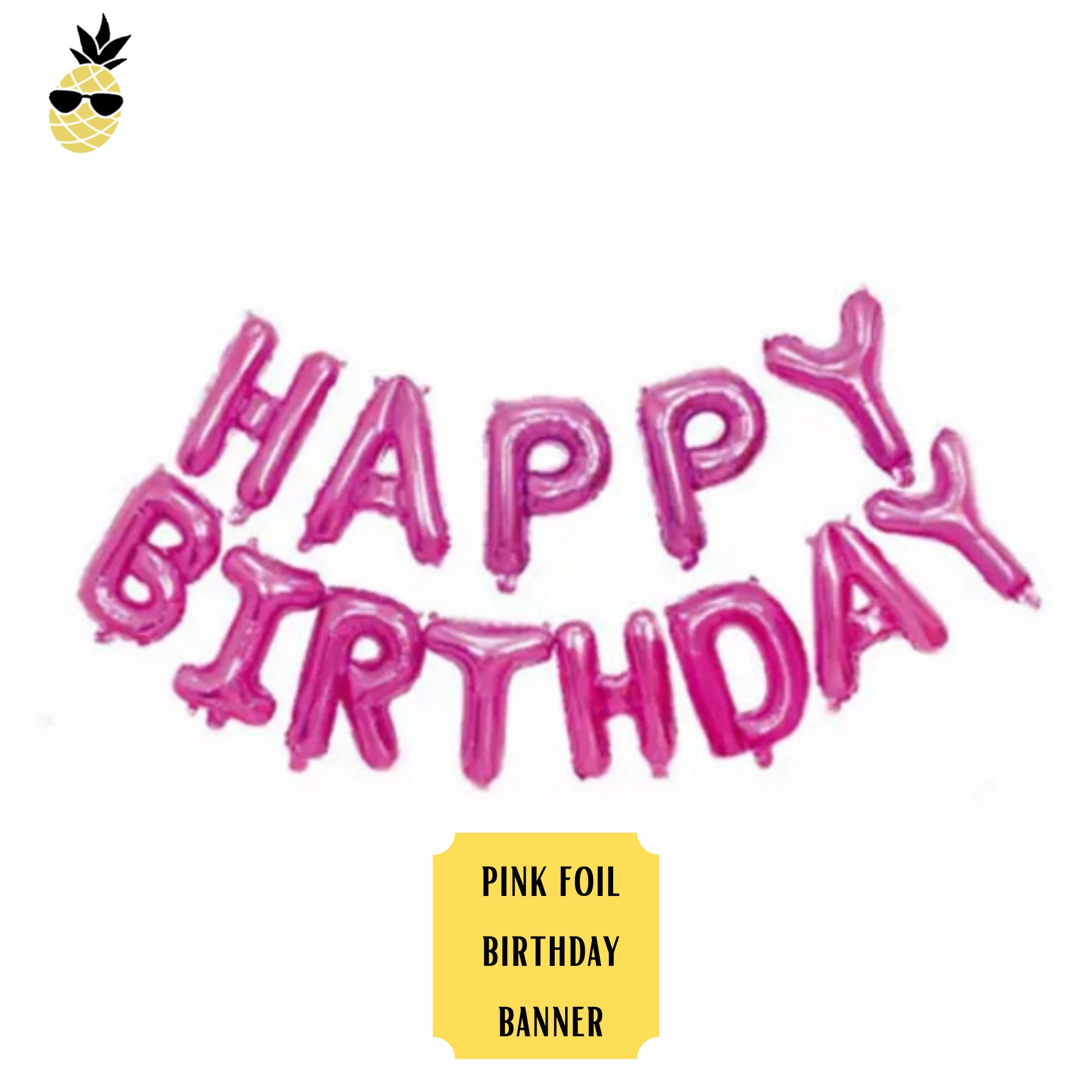 NEW 3.6 m Pink Happy 16th Birthday Foil Banner