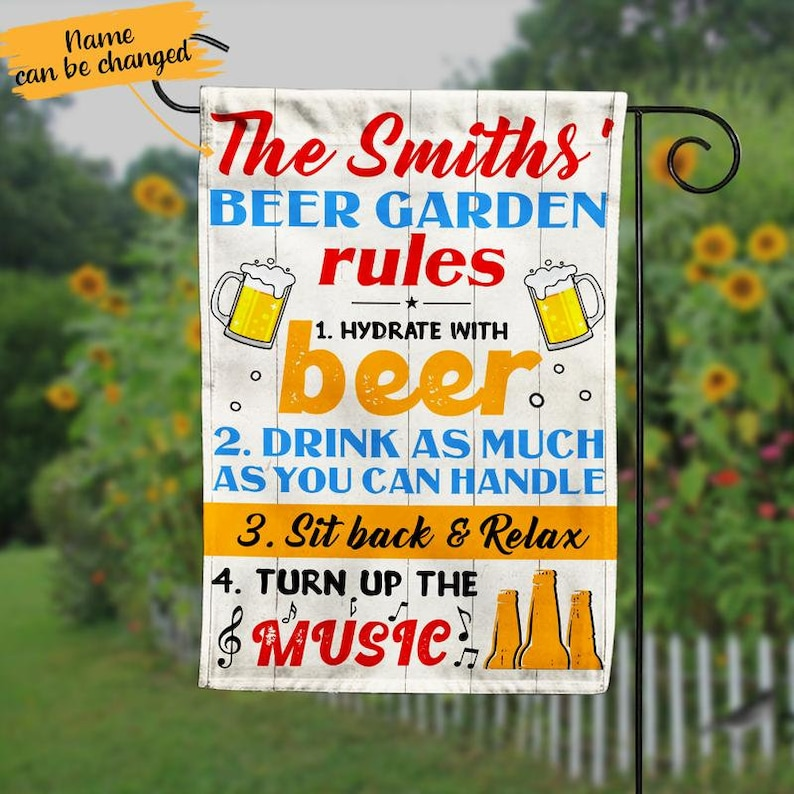 Gearhuman – Beer Garden Rules Hydrate With Beer Drink As Much As You Can