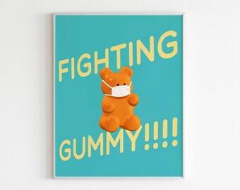 Gummy Bear Print Gummy Bear Art Lovely Cute Art By H2gummy