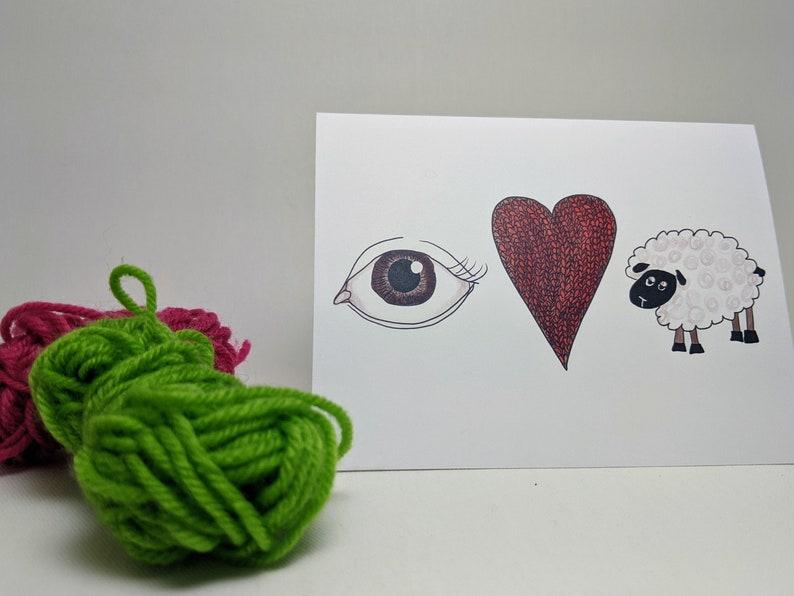 Eye Love Ewe  Greeting Card image 0