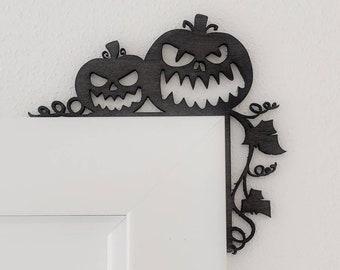 Halloween Wood Door Decoration Picture Frame Corners
