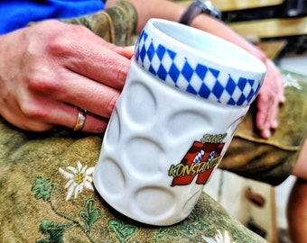 Limited-edition Bavarian measuring jug cup made of real porcelain