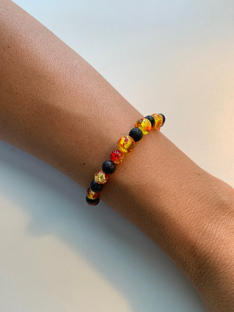 Minimalist Design Lava Rock Bracelet Essential Oil Infusing Bracelet #2418