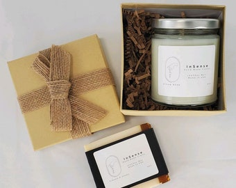Thank you gift box Love Gift Set Cake Package Candle Gif for him Gift For Her Relaxation spa box Wellness Gift Love Candle