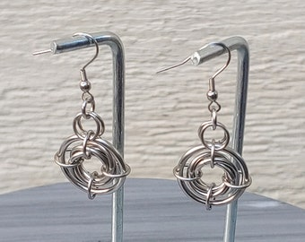 Chainmail Earrings Steel Ursidae