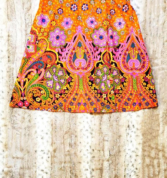 Orange Psychedelic Paisley Dress