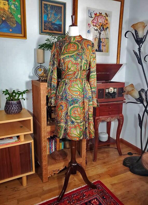 Vintage 60s Leo Narducci Paisley Long Sleeve Psych