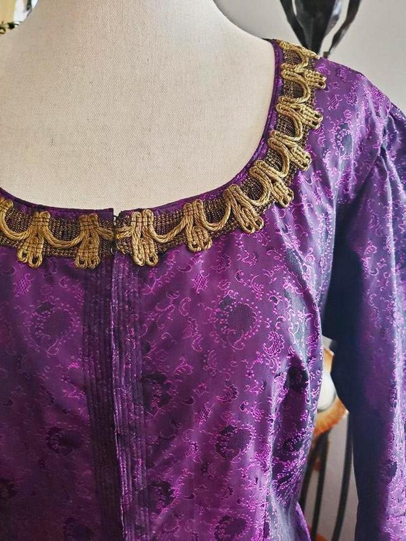 Vintage 60s Purple Renaissance Corset Gown