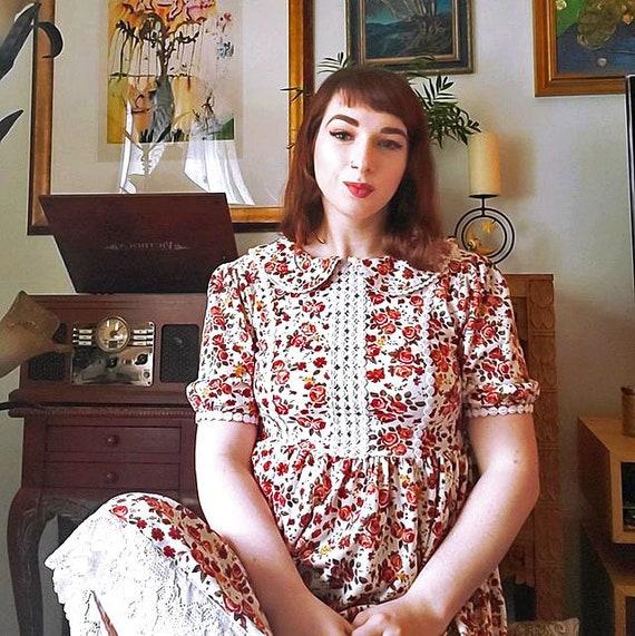 Vintage Floral Cottagecore Dress - image 3
