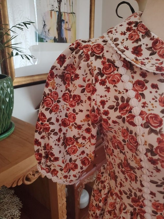 Vintage Floral Cottagecore Dress - image 6