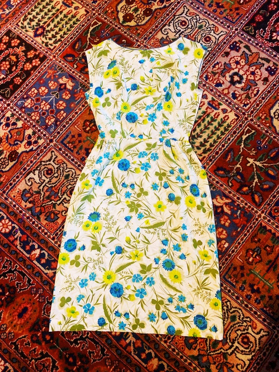 Blue and Green Floral Dress S