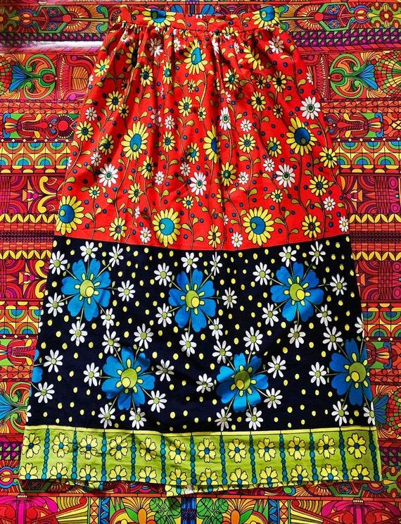 70's Daisy Maxi Skirt