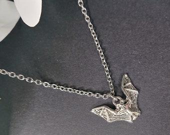 tiny bat pendant gold bat necklace bat necklace kawaii animal necklace hanging bat jewelry gothic bat necklace bat necklace for women