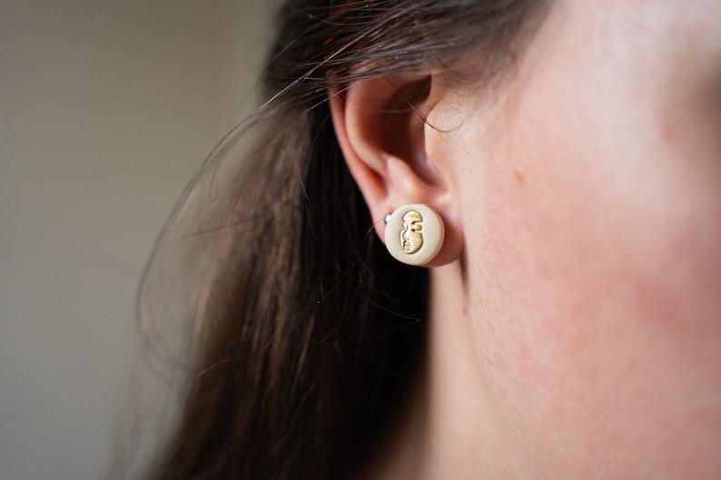 Earrings chips women/'s polymer paste Face