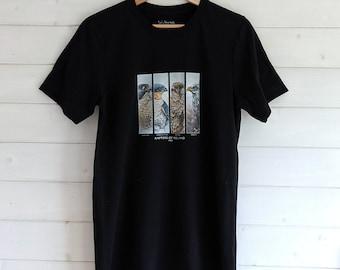 Birds of prey men's t-shirt, bird print unisex t-shirt, hawk print men's casual shirt classic streetwear with eagle print 100% cotton shirt