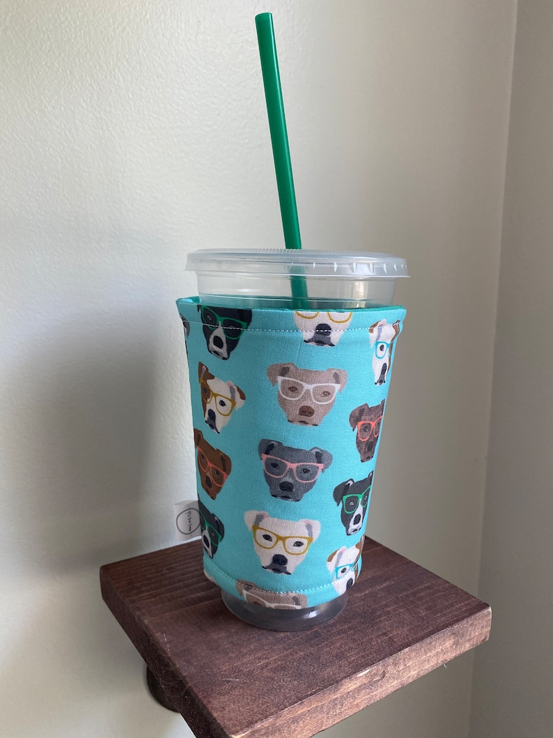Medium/Large Iced Coffee Sleeve  Specialty Fabric image 0