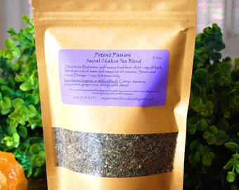 Sacral Chakra Tea Blend, Aphrodisiac Tea, Reproductive Tea, Uplifting Tea Blend, Calming Tea, Anti-Anxiety Tea
