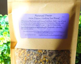 Solar Plexus Chakra Tea Blend, Empowering Tea, Digestive Tea, Calming Tea, Anti-Anxiety Tea