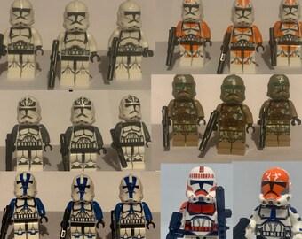 Star Wars Captain Rex 501st Jet Troopers Army Set 11 Minifigures Lot  Figure Toy