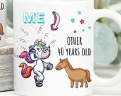 40th Birthday Mug, 40th Birthday Gift, Happy 40th Birthday, Personalised Birthday Mug, Custom Birthday Gifts, Fourty Birthday Gift, Forties