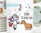 30th Birthday Mug, 30th Birthday Gift, Thirties, Happy 30th Birthday, Personalised Birthday Mug, Custom Birthday Gifts, Thirty Birthday Gift