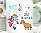 50th Birthday Mug, 50th Birthday Gift, Happy 50th Birthday, Personalised Birthday Mug, Custom Birthday Gifts, Other 50 year olds, me Fifties